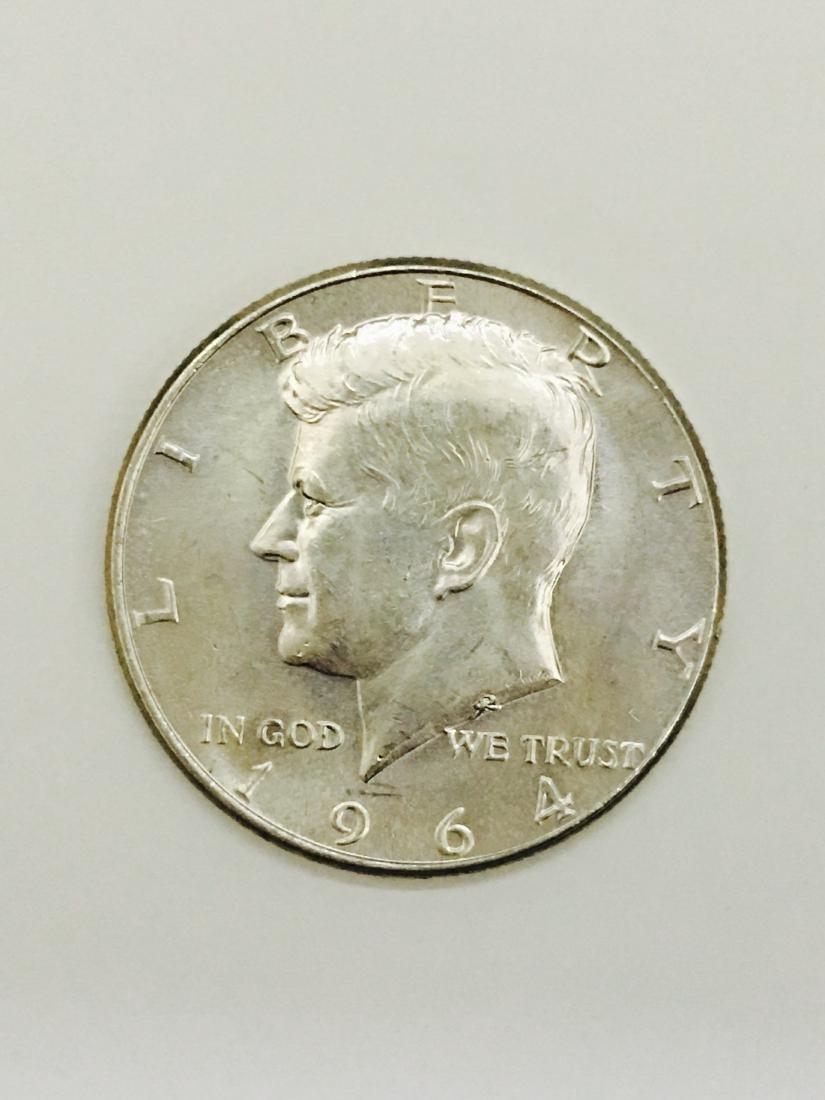 1964 Kennedy Half Dollar 90% SILVER US Mint Coin