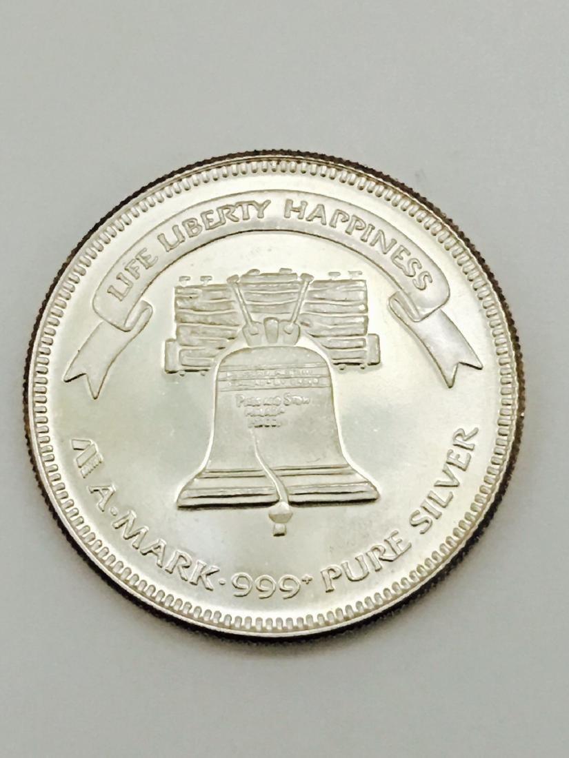 A-Mark 1 oz Silver Round .999 Fine Lot of 5