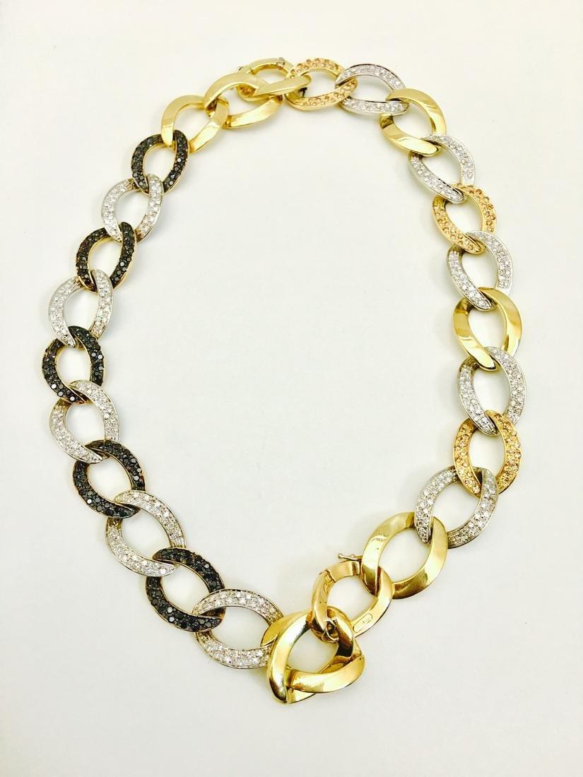 18K Yellow Gold Diamond Bracelet / Necklace