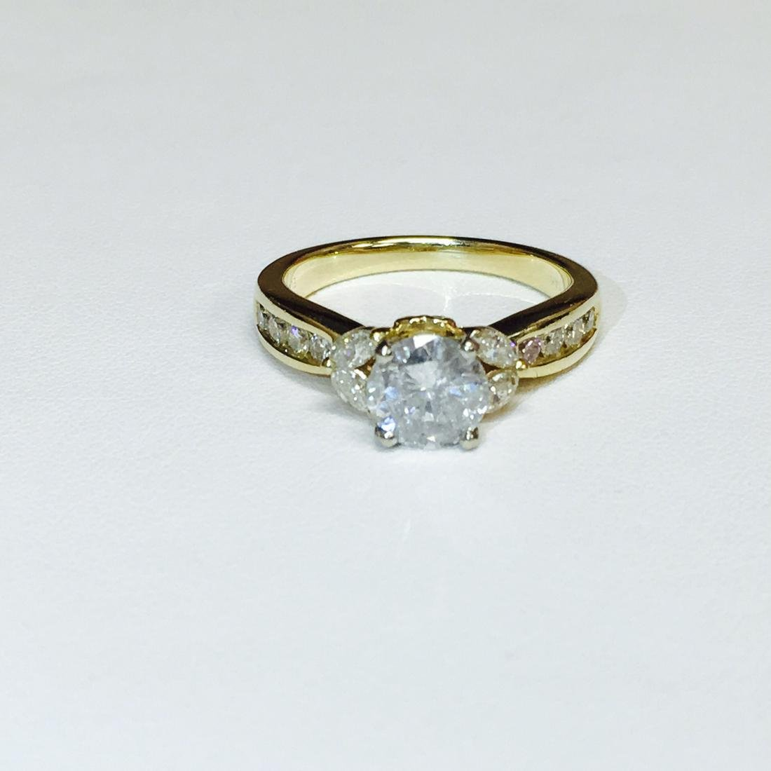 2 Carat Certified 14k GOLD DIAMOND ENGAGEMENT RING