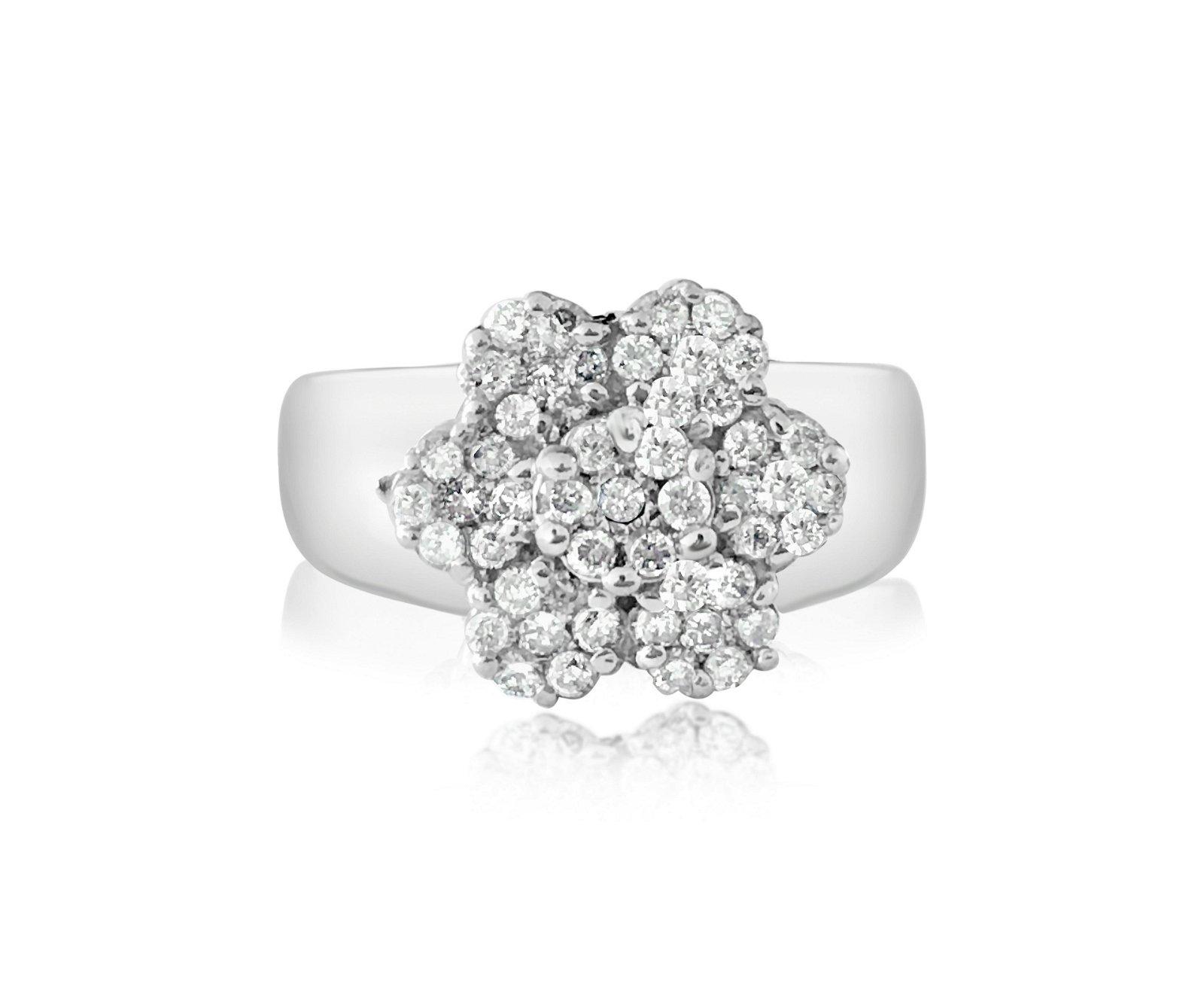 Vintage 1.50 Carat Diamonds in 14kt white gold.
