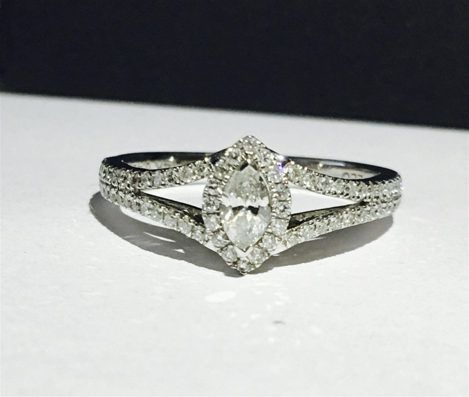 14K white gold, 0.48 carat Diamond Engagement Ring