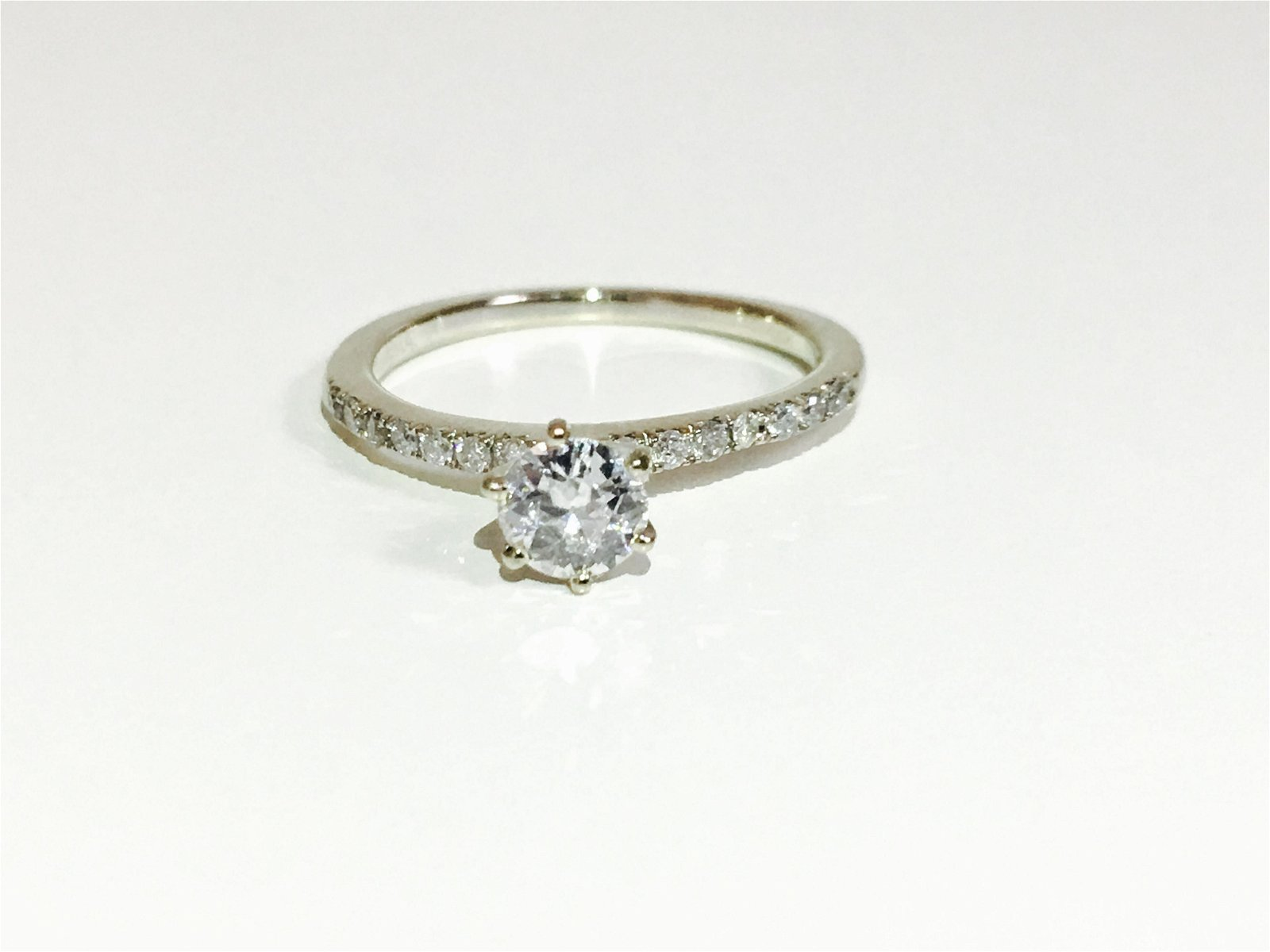 14K White Gold, 0.80CT VS/G Diamond Engagement Ring