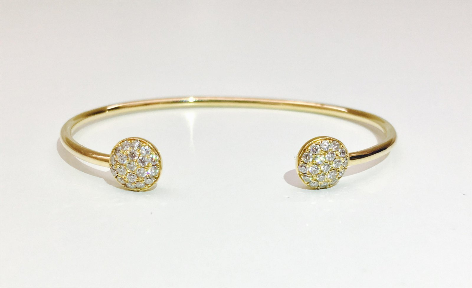 18k Yellow Gold DIAMOND BANGLE / BRACELET