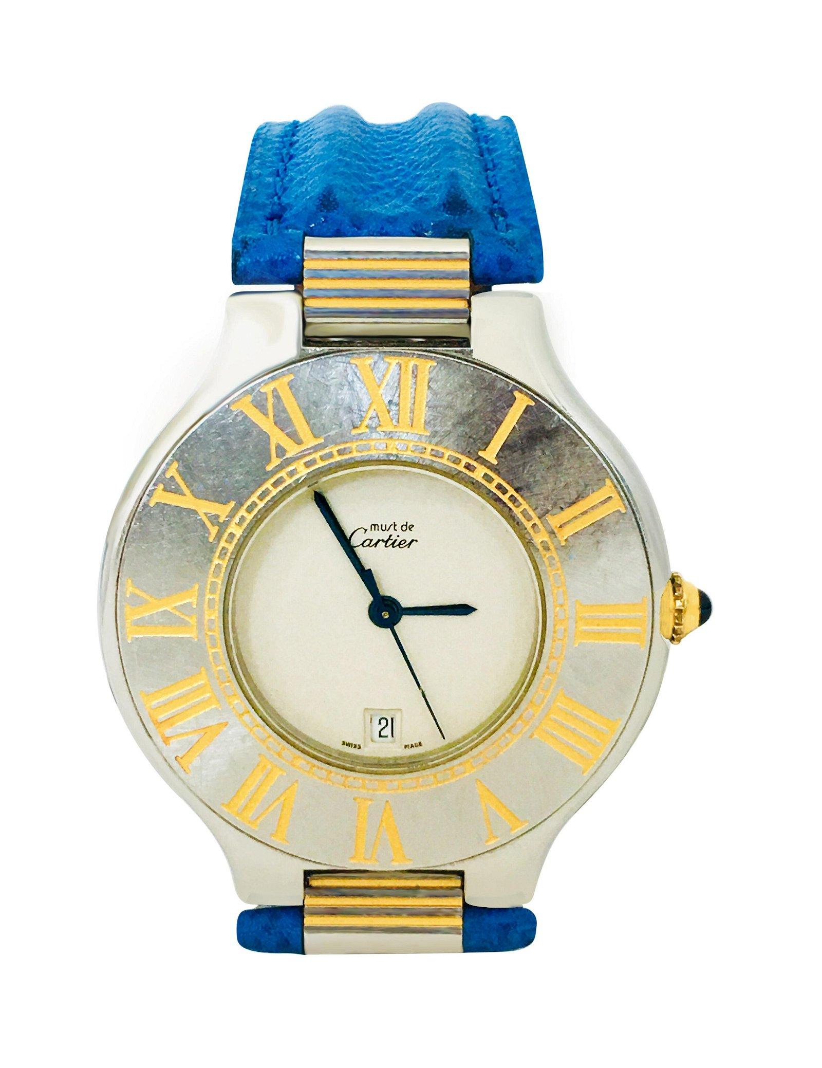 Cartier 21 Must de Cartier, Gold & Steel Date Watch