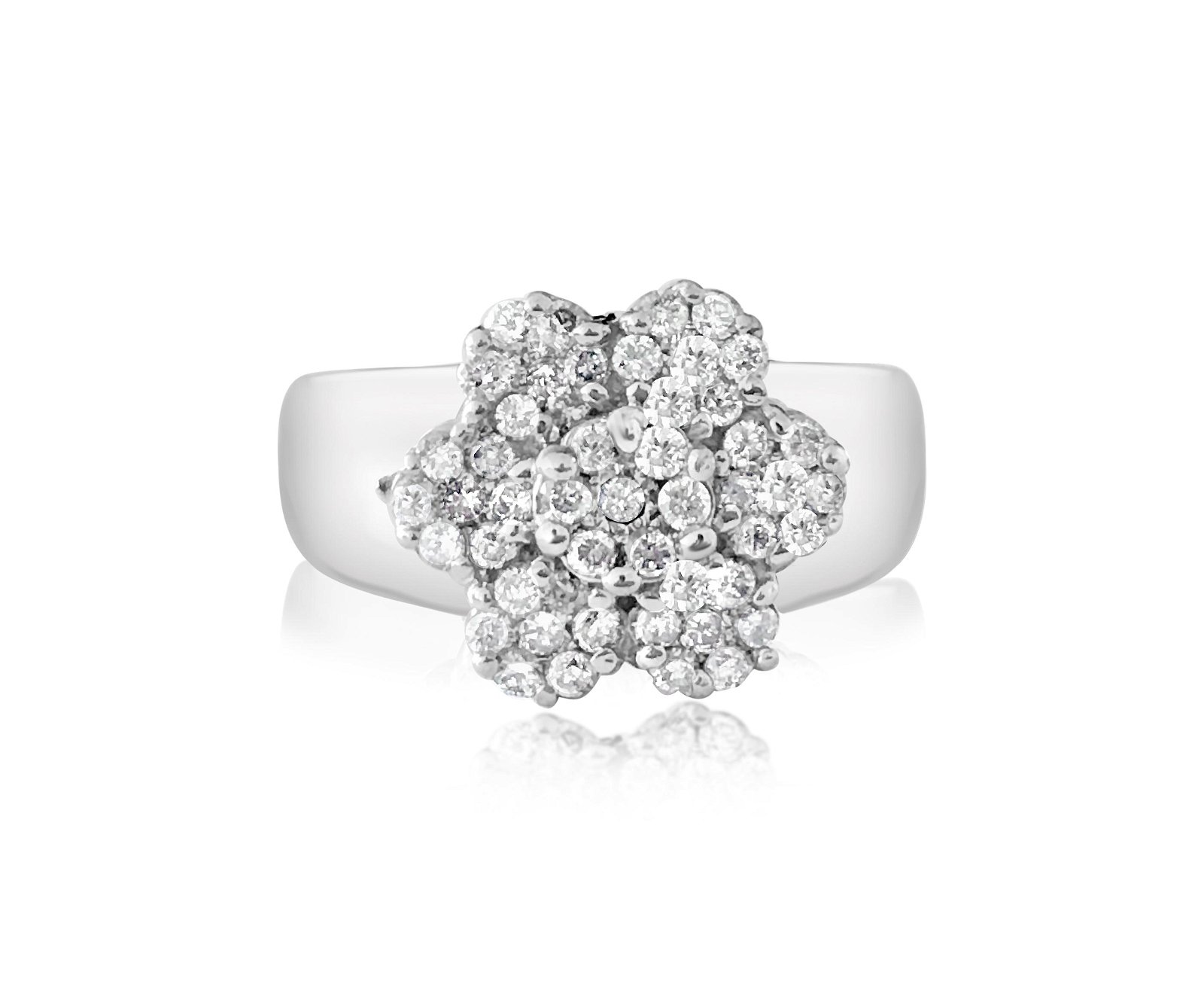 Vintage Flower Inspired, Brilliant Diamonds and Gold