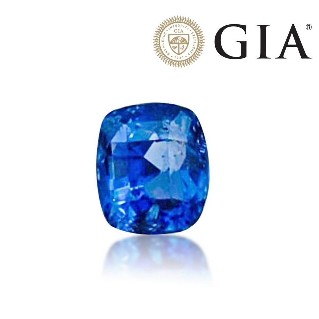 GIA certified, 7.02 carat no heat blue sapphire loose