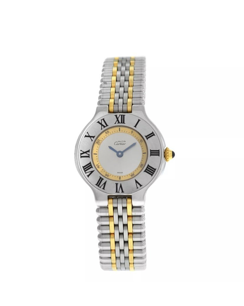 Ladies Cartier Must 21- 1340 Watch. Gold & SS Watch