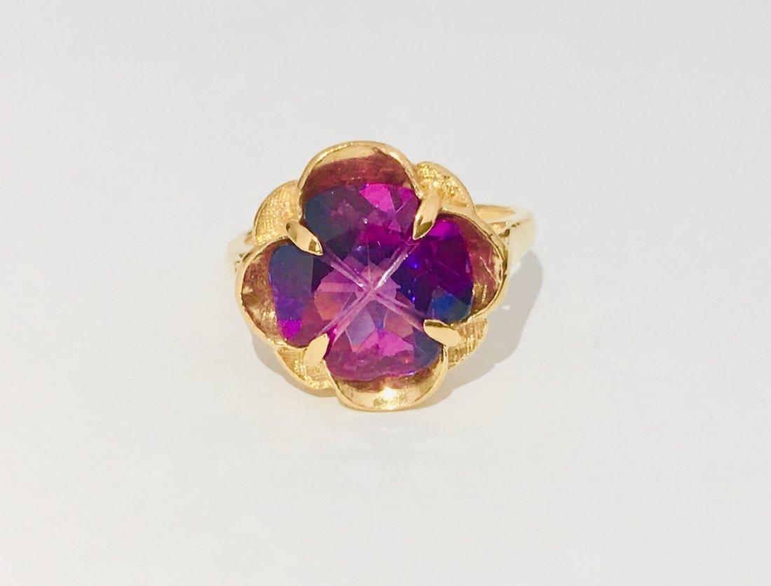 14k Rose Gold & Amethyst Ring For Her