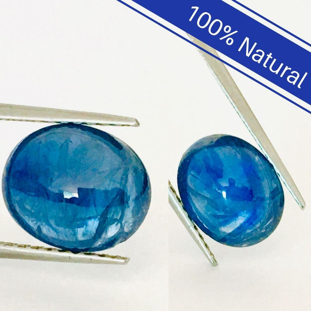 100% Natural AAA  12.00 CT Loose Blue Sapphire Pair