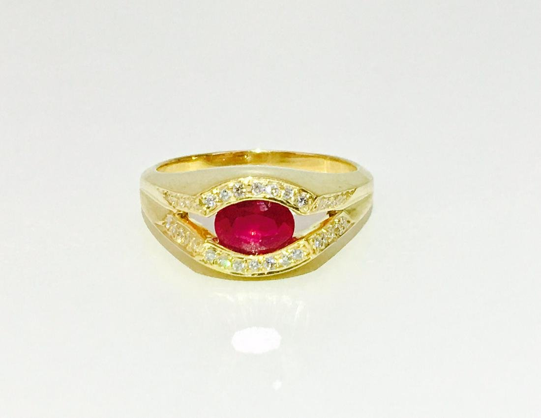 2.50 Carat Burma Ruby and Diamond Ring in 18K Gold
