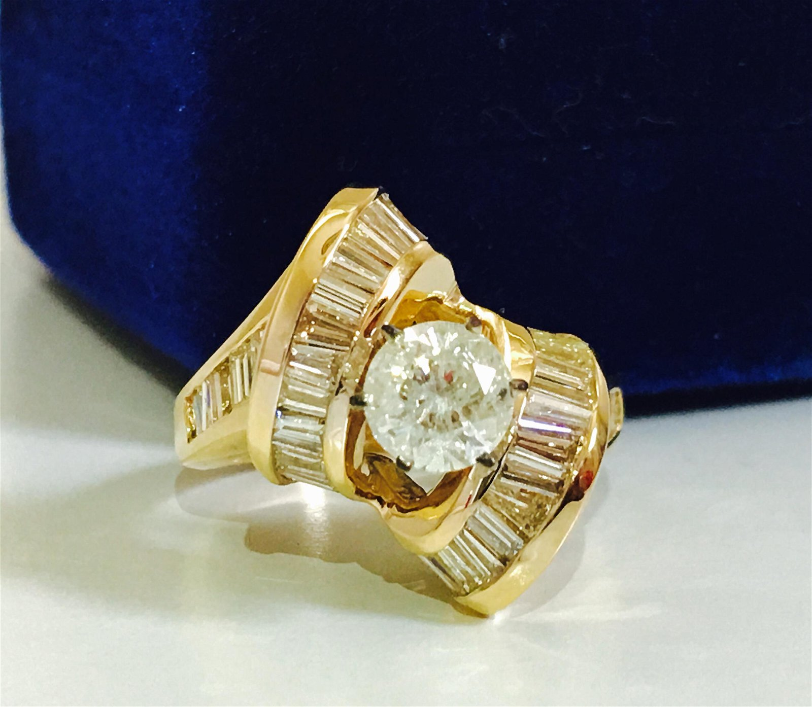 3.00 Carat VS Diamond 14K Yellow Gold Ring *Vintage*