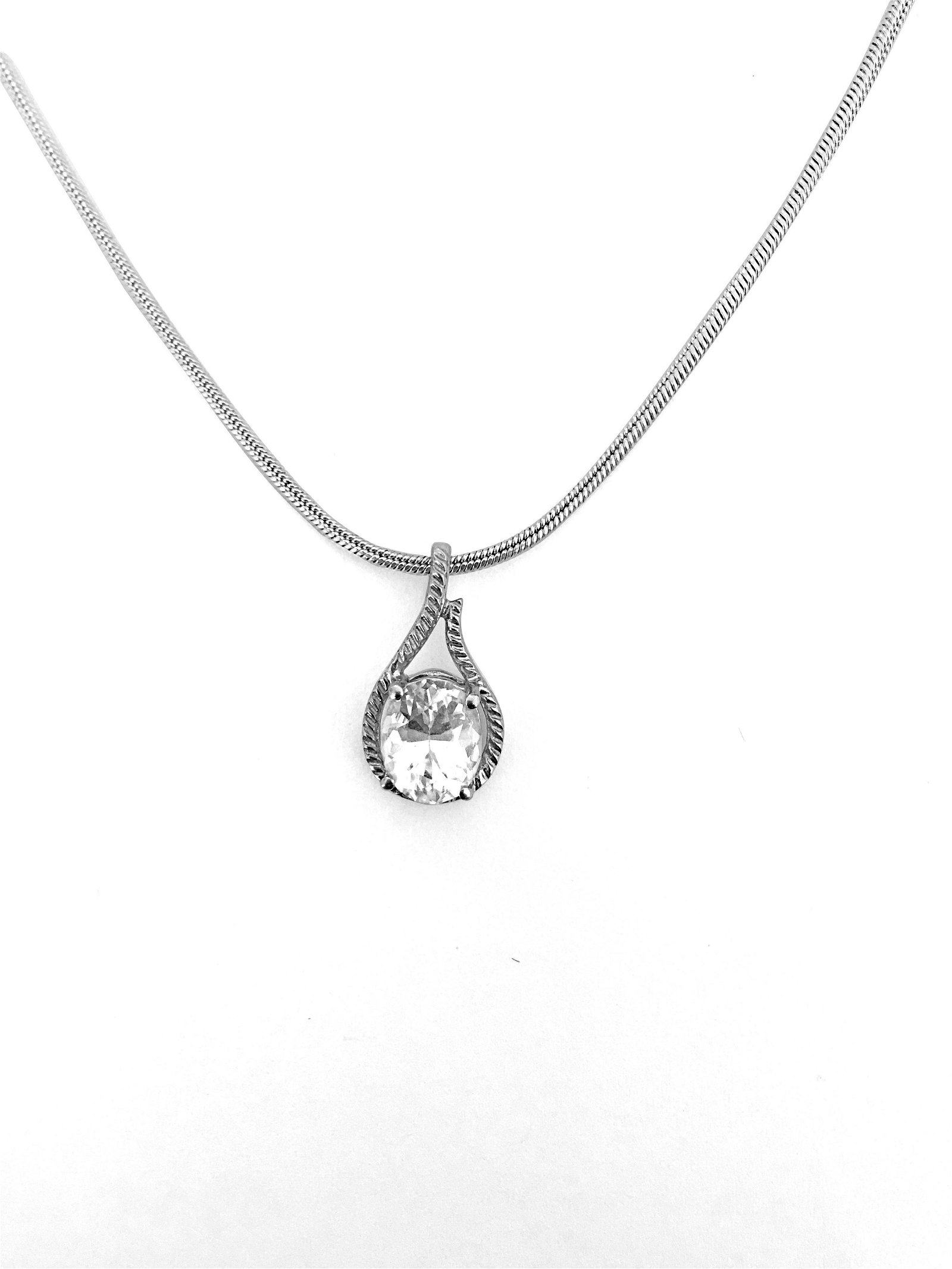 Made In Italy, Sterling Silver Pendant & Necklace
