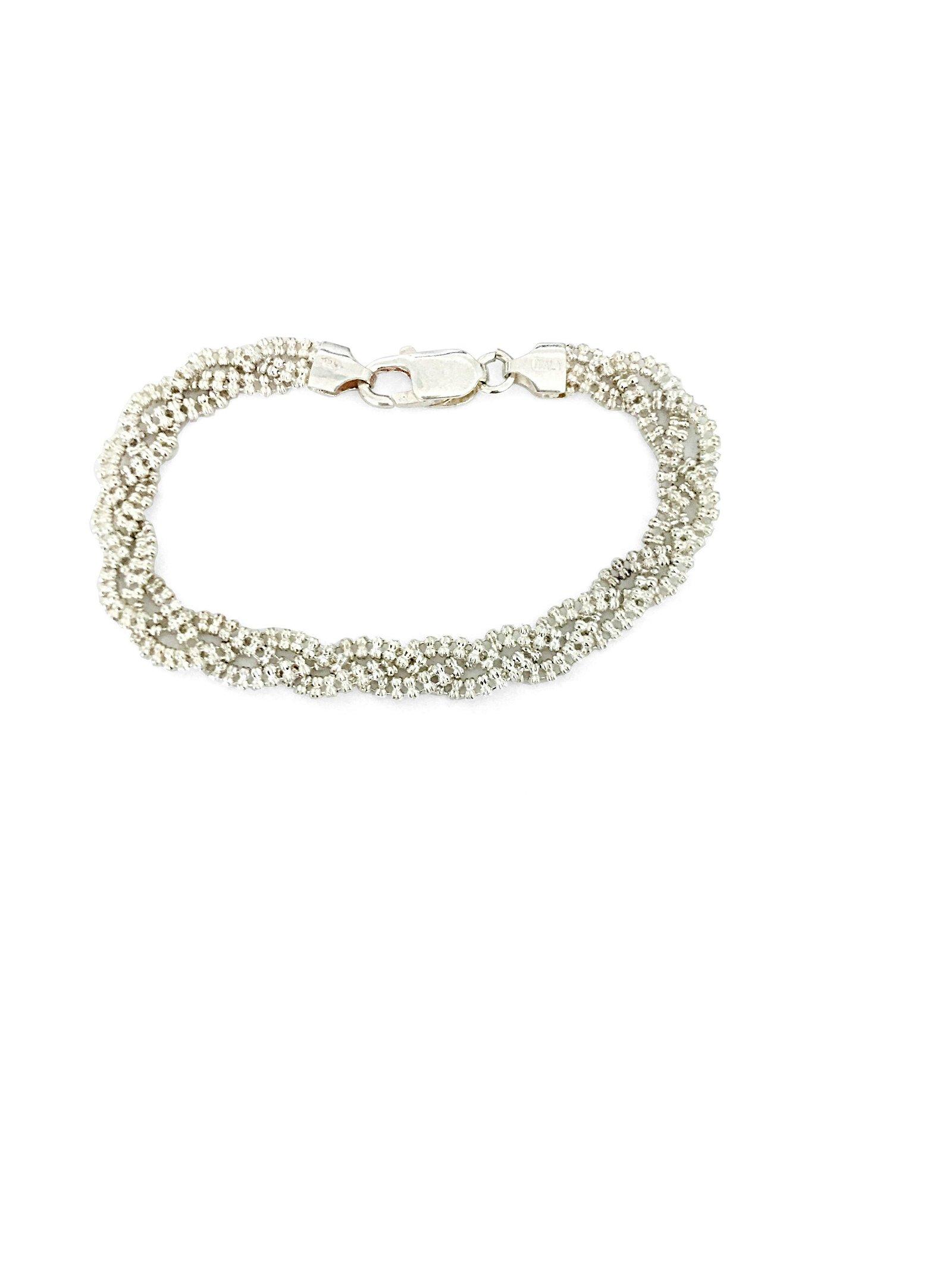 Vintage Beaded Sterling Silver Bracelet For Her
