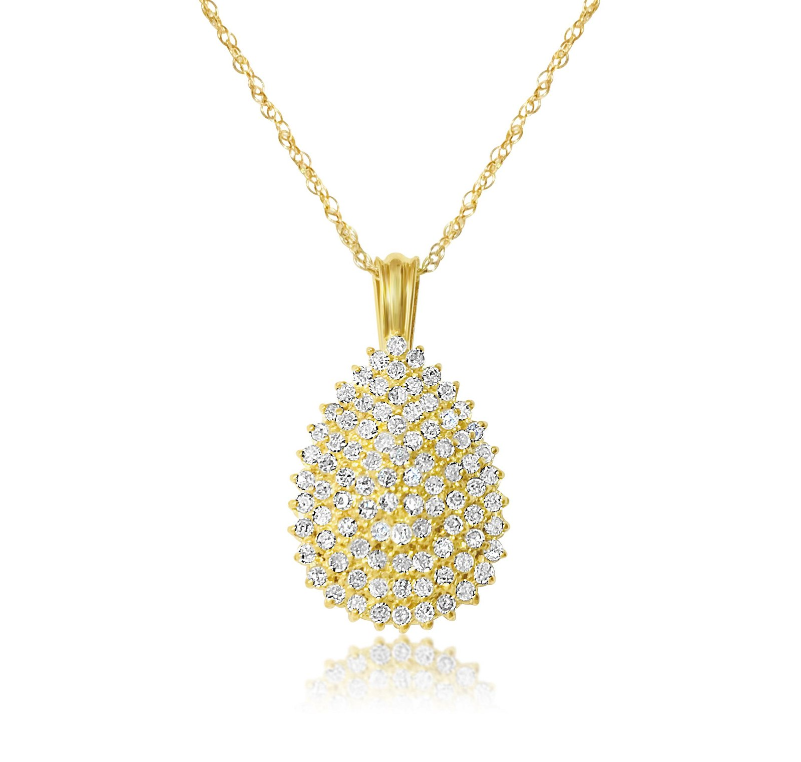 3.00 Carat Diamonds in 14K Yellow Gold Necklace