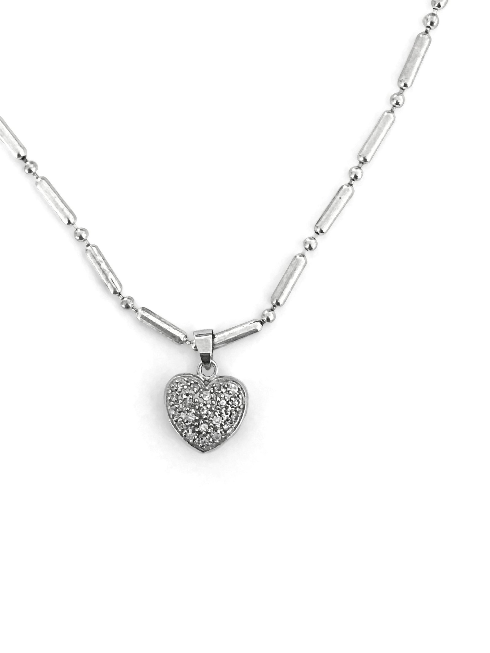 Made In Italy, Silver Heart Pendant & Necklace