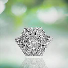 GIA certified, Shimmering 2.00 CT Diamond and Gold Ring