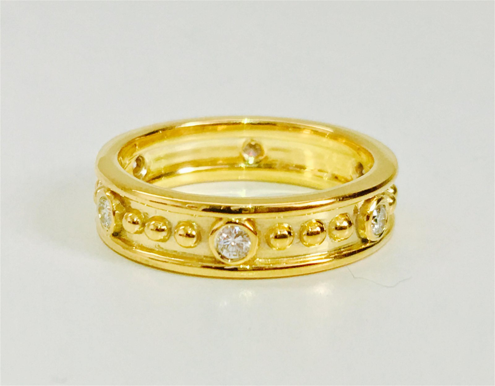 Classic Boutique French Style Diamond and Gold Band