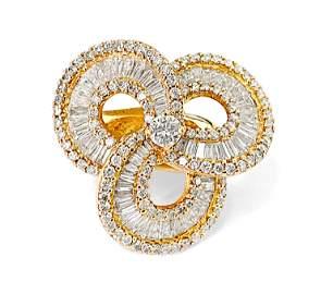 Ladies 18K Rose Gold, 5.00ct VS Diamond Cluster Ring