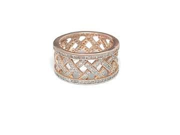 Vintage Rose Gold & Eco Friendly Diamond Ring