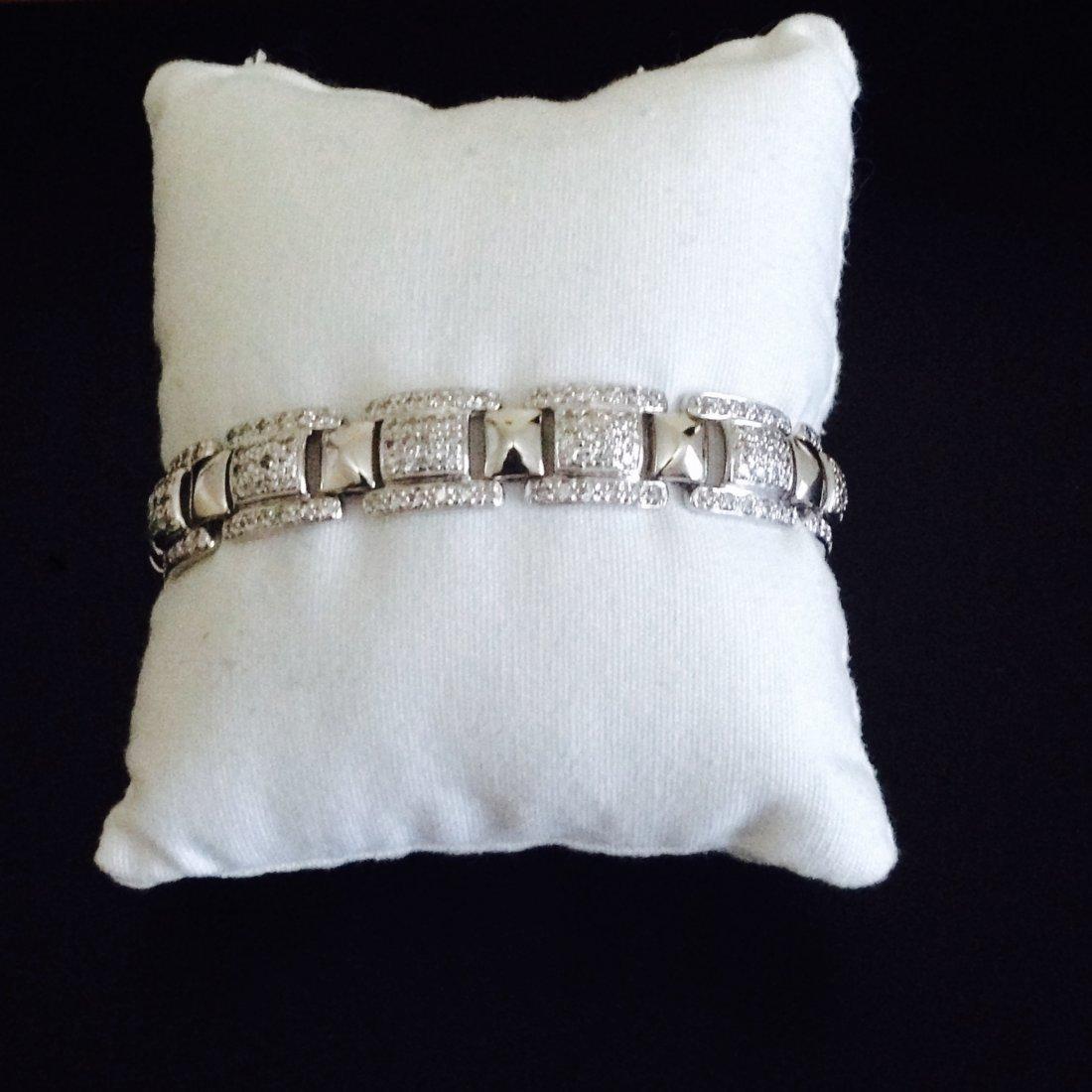 Diamond Bracelet Set In 14K White Gold
