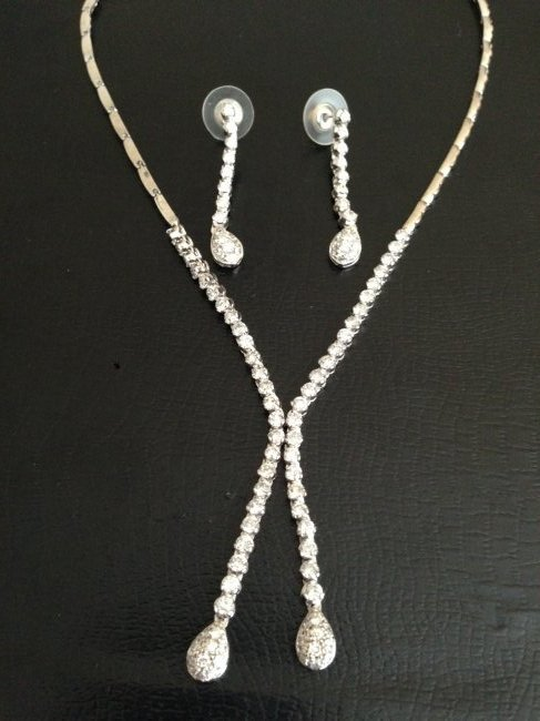 Diamond Tennis Necklace And Earring SET $21,400