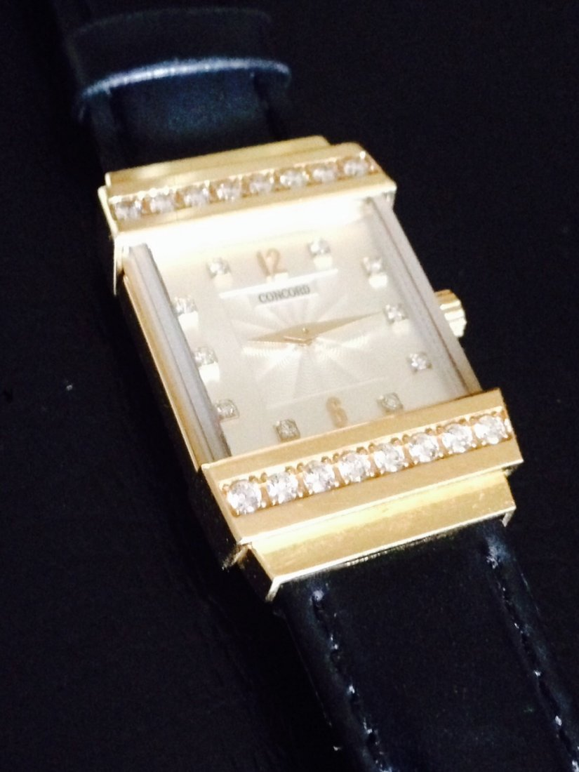 18K GOLD AND DIAMOND CONCORD WATCH