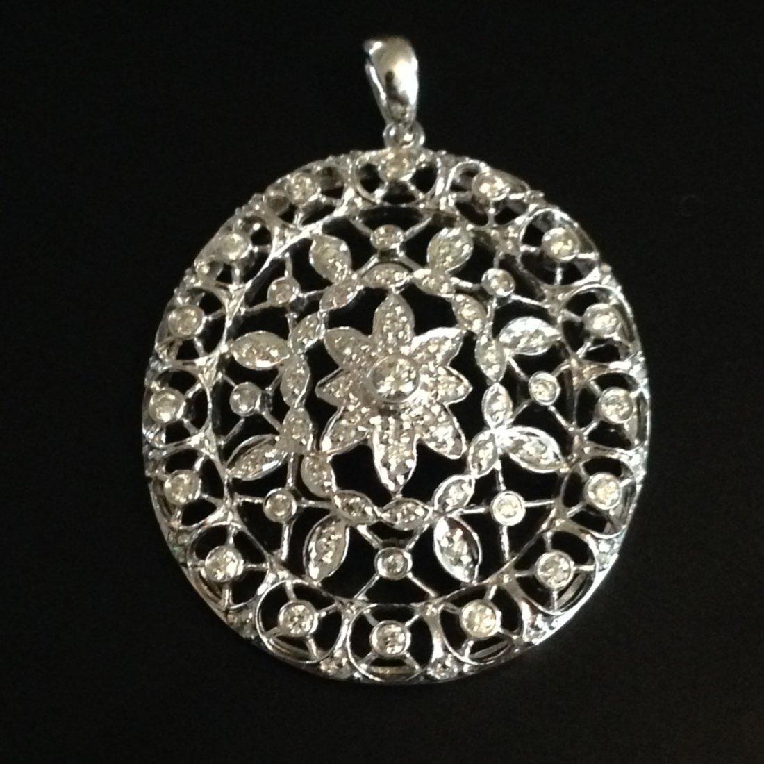 18K Vintage Handmade Diamond Pendant