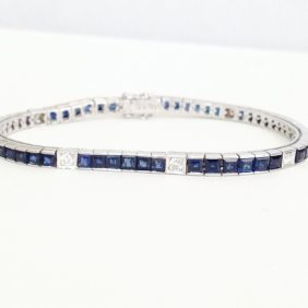 Diamond Blue Sapphire Bracelet