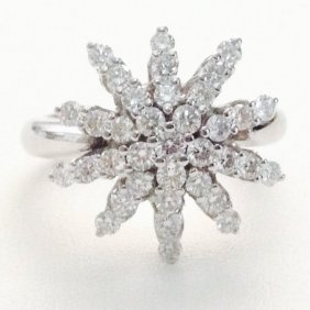 Designer Diamond And White Gold Ring