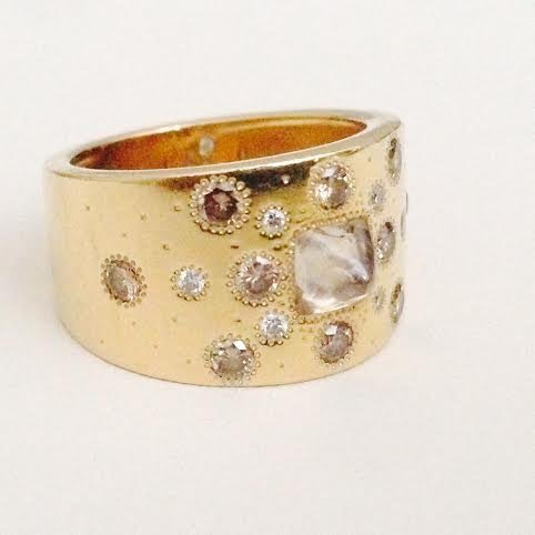 De beers Talisman Ring w/ Rough diamond