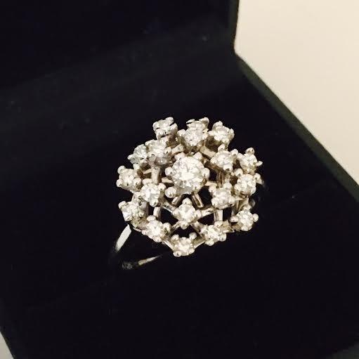 Diamond & Gold Cocktail ring