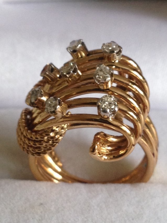 Vintage 18k Gold And Diamond Ring
