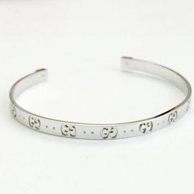 18k White Gold Authentic Gucci Bracelet / Bangle