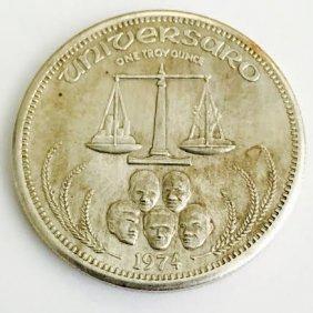 1974 Universaro Silver Coin