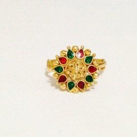 22k Yellow Gold Ring Indian Ring