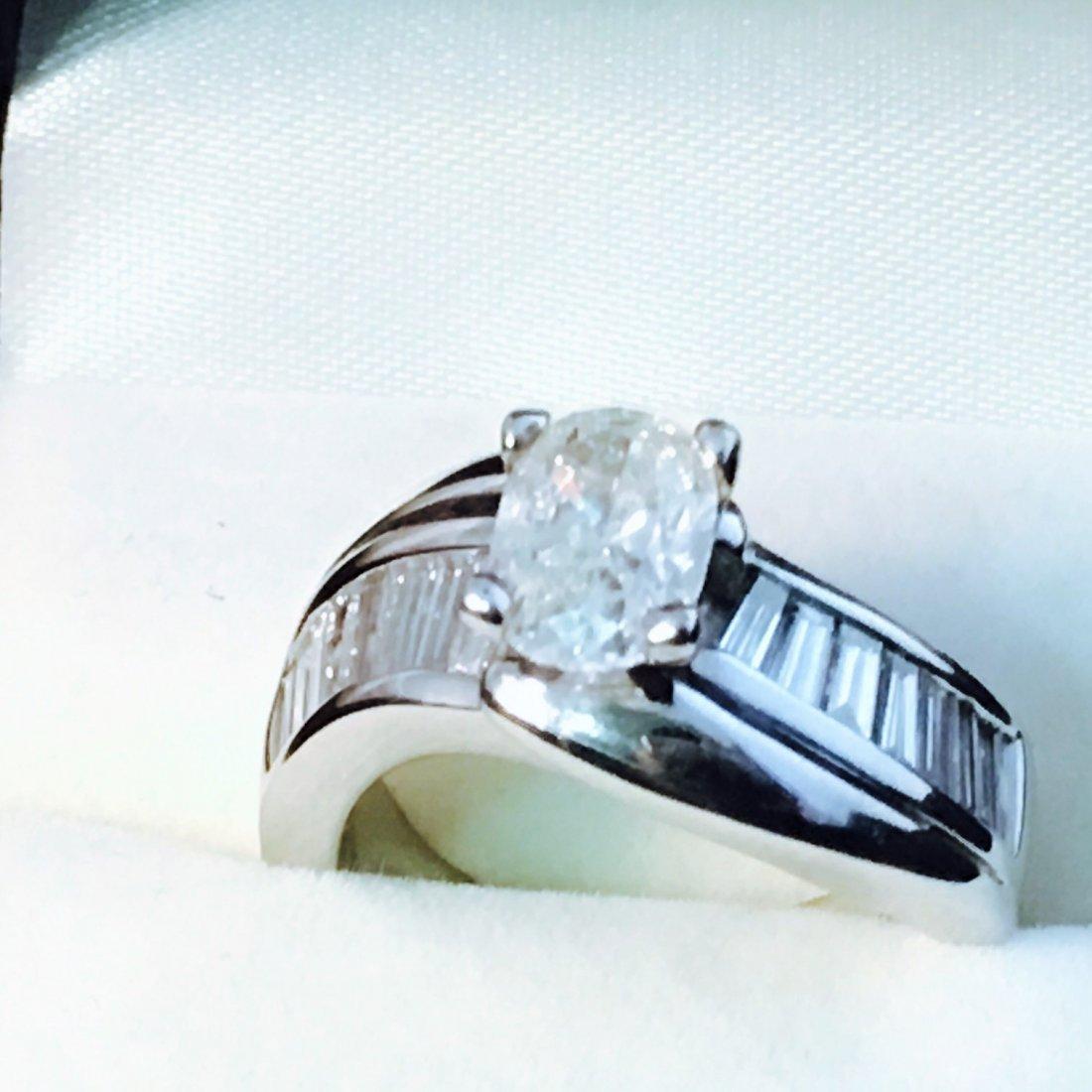 14K WHITE GOLD 2.6 CARAT DIAMOND ENGAGEMENT RING