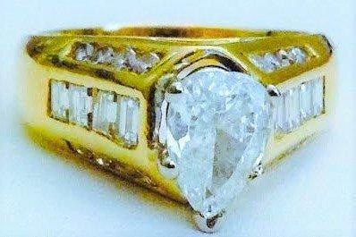 GIA GEMOLOGIST CERT 2CT DIAMOND ENGAGEMENT RING