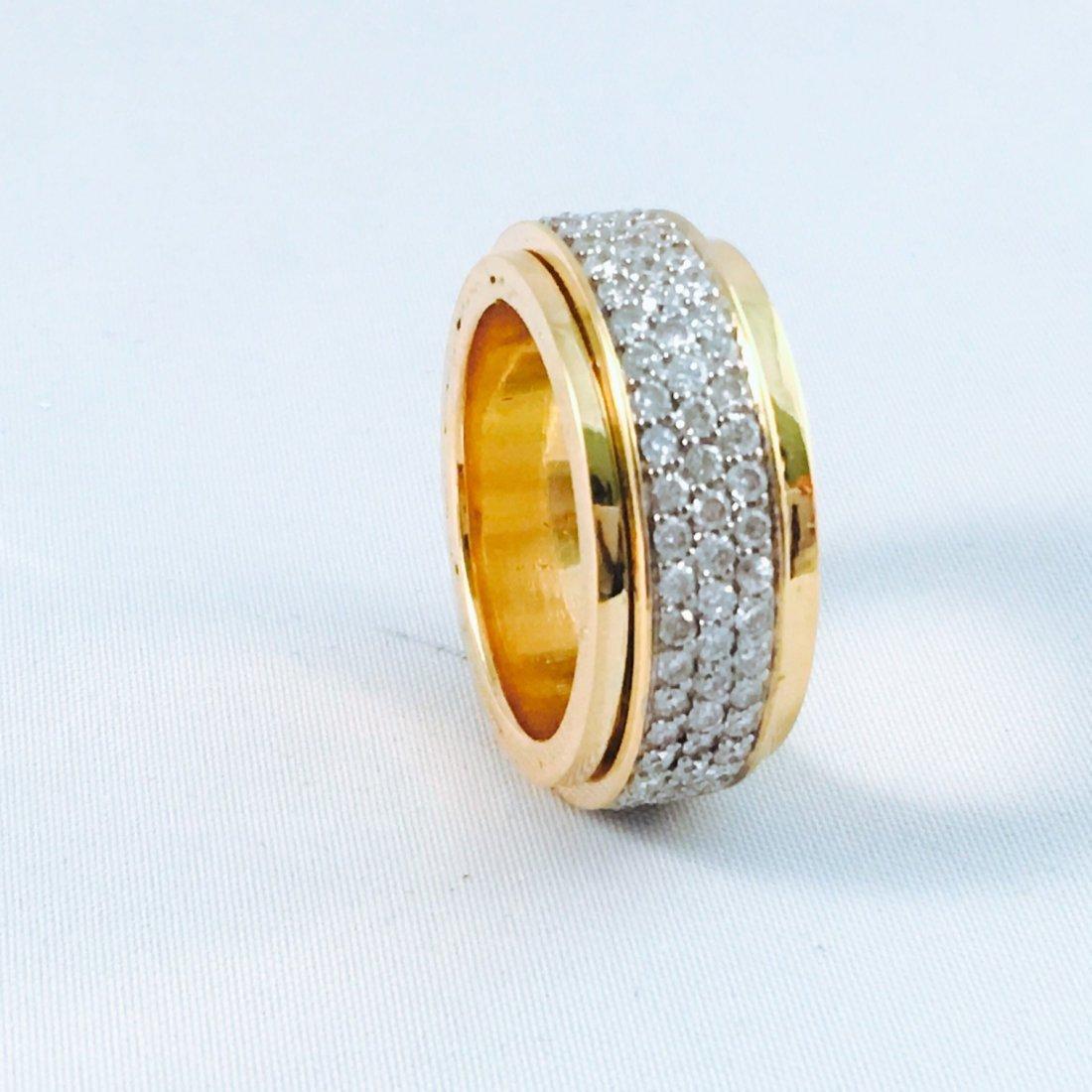 18K YELLOW GOLD, 4.00 CT DIAMOND RING.