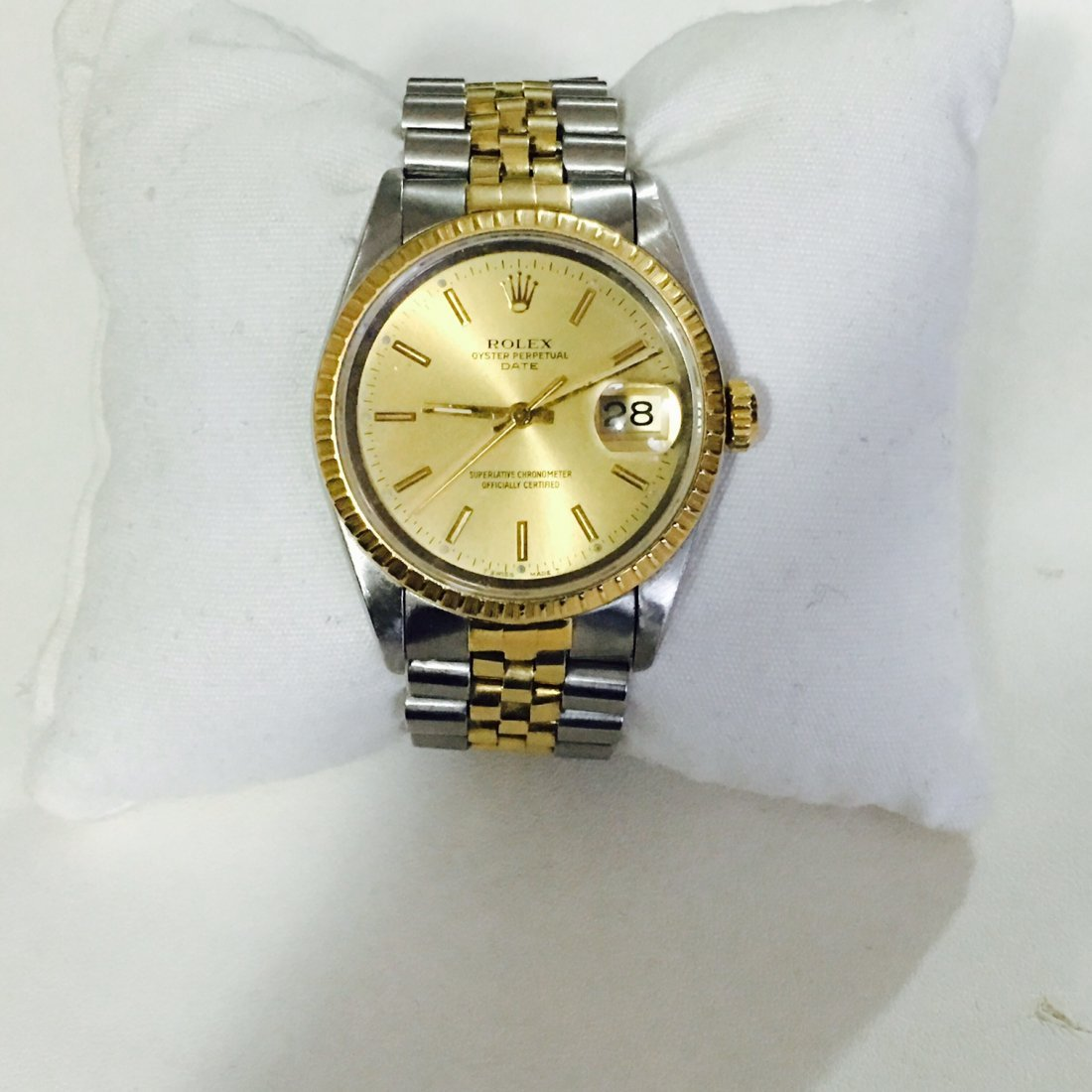 Rolex DATEJUST Steel & Gold BODY AND GOLD DIAL.