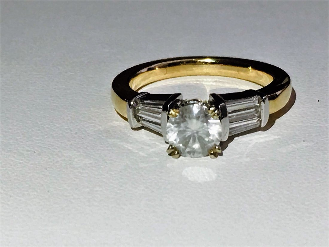 2.25ct Diamond. 14k White Gold Engagement Ring.
