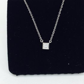 Tiffany and Co: Platinum and Diamond Necklace.