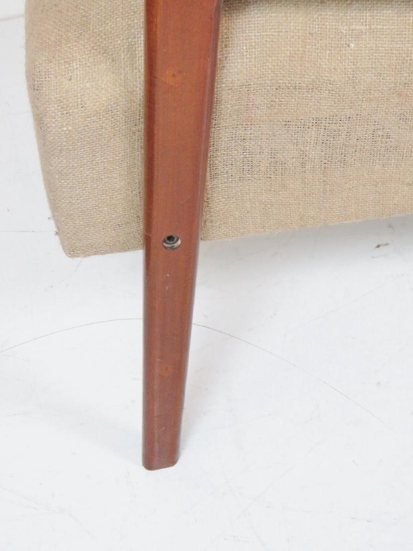 Pair MODERN DESIGN BURLAP LOUNGE CHAIRS - 2