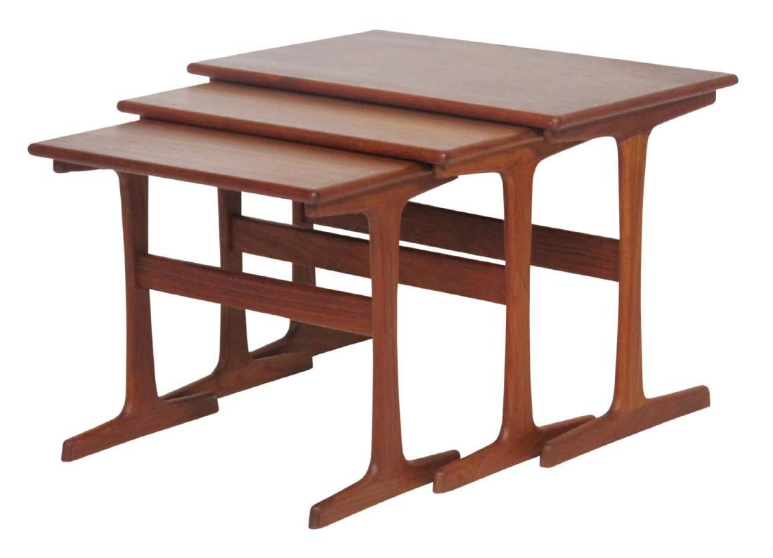 DANISH MODERN TEAK NESTING TABLES