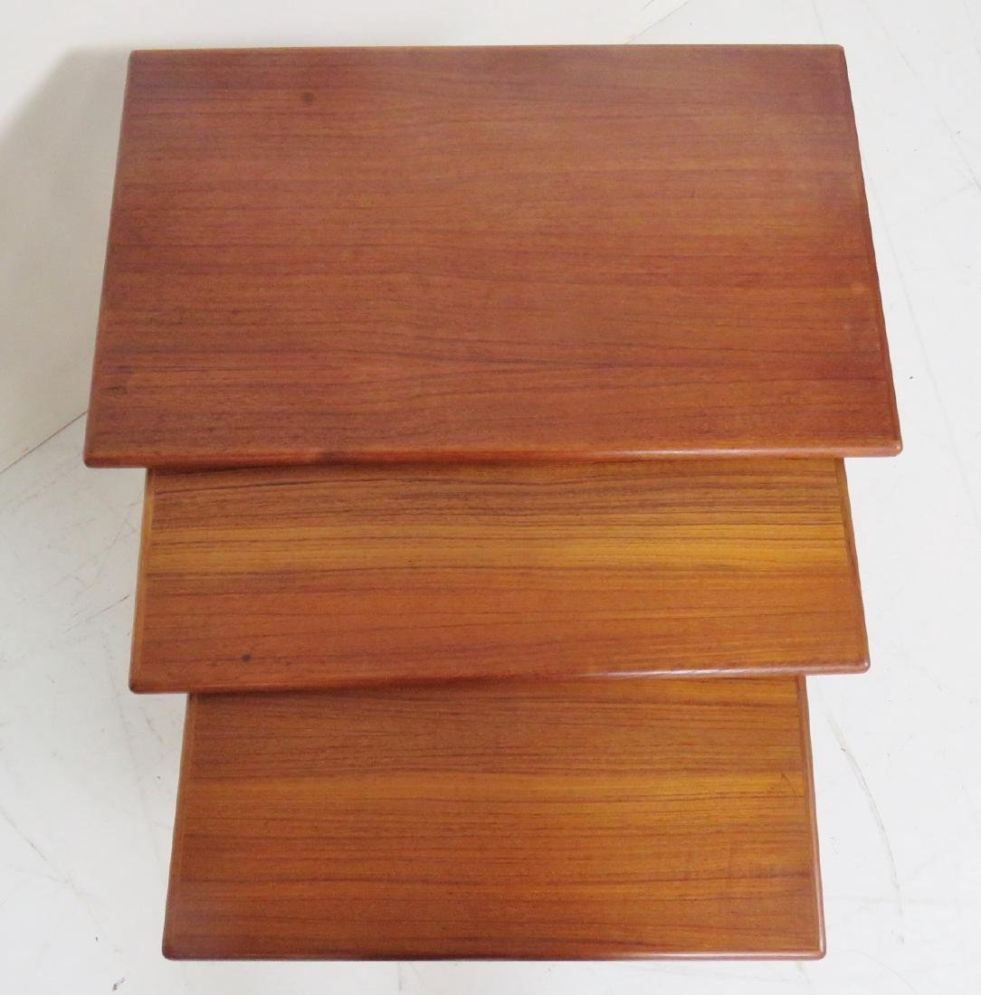 DANISH MODERN TEAK NESTING TABLES - 2