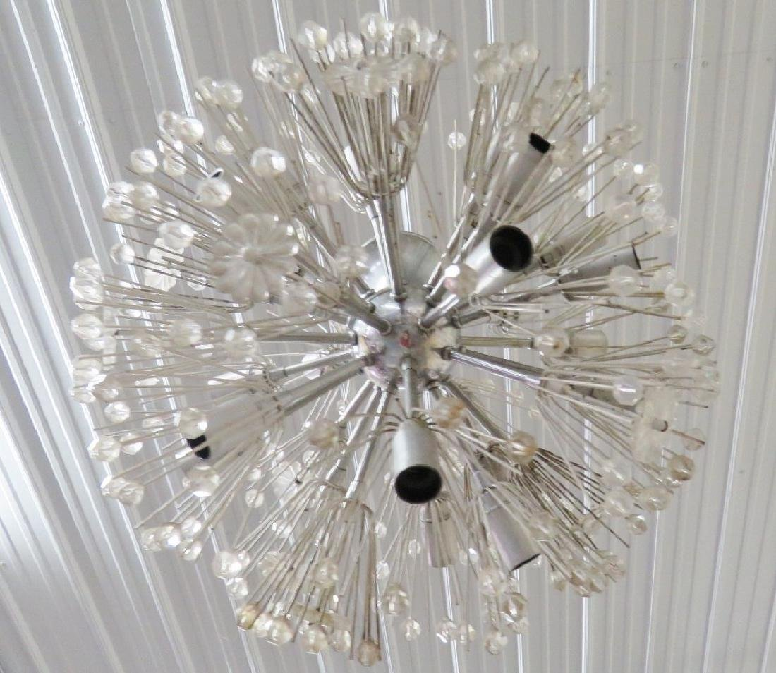 ITALIAN MODERN GLASS & CHROME SPUTNIK CHANDELIER - 3