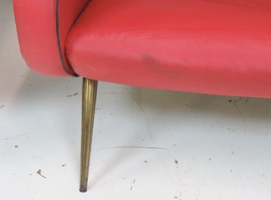 Pair ZANUSO STYLE METAL LEG LOUNGE CHAIRS - 2