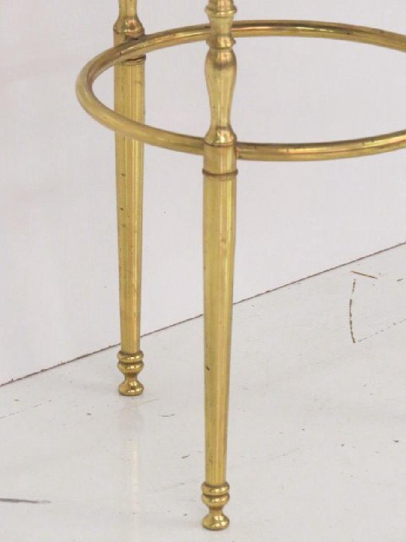 BRASS FORMED TWO TIERED GUERIDON - 2