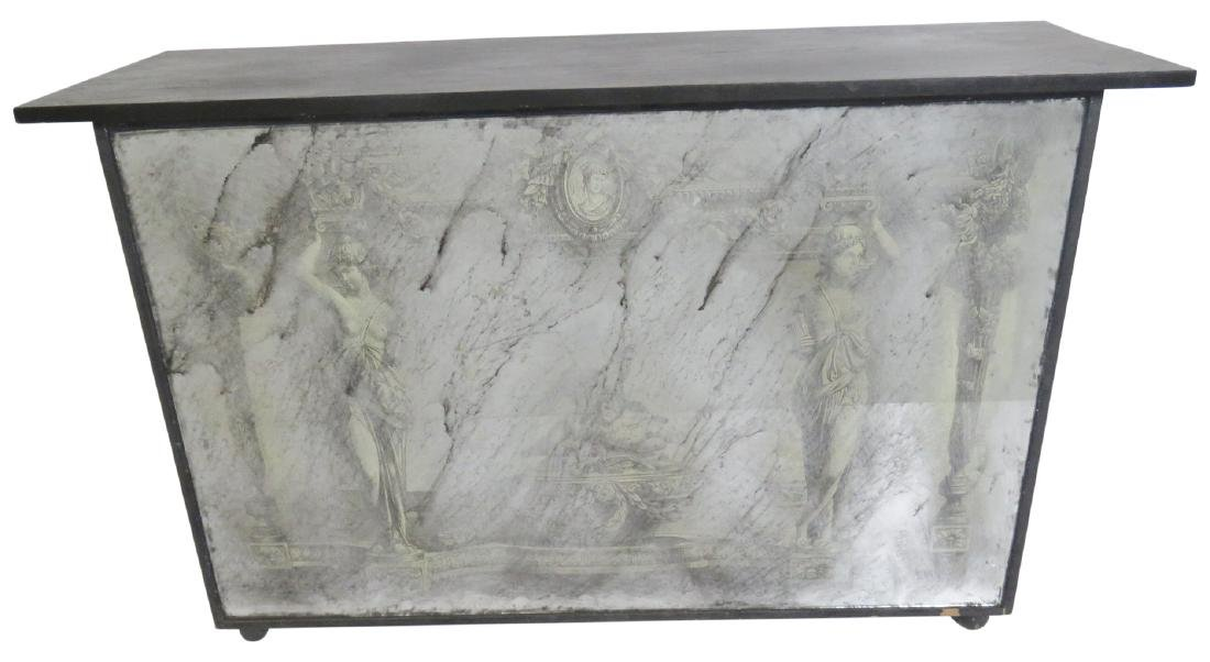 EGLOMISED MIRRORED SLATE TOP CONSOLE