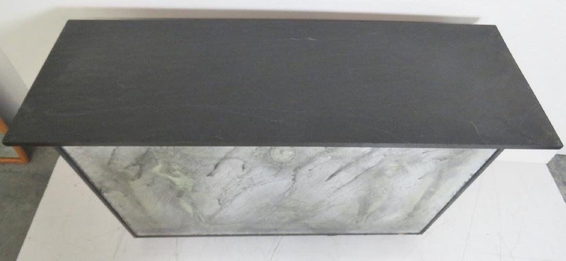 EGLOMISED MIRRORED SLATE TOP CONSOLE - 5